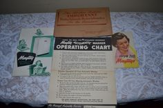 Vintage 1949 Maytag Automatic Washer Owners Instuction Manual, Fold-Out Brochure #Maytag