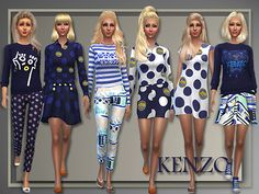 All About Style: Kenzo Spring 2015 • Sims 4 Downloads