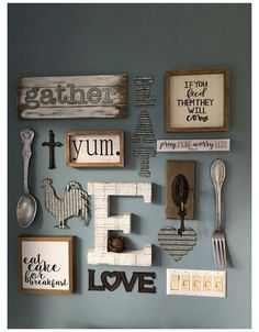 Dining Room Wall Decor, Rustic Wall Decor, Farmhouse Kitchen Decor, Diy Wall Decor, Diy Home Decor, Modern Farmhouse, Farmhouse Style, Country Kitchen, Country Wall Decor