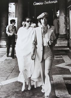 Bianca Jagger wearing a wicked Tommy Nutter suit!