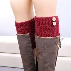 Boot Cuffs Knit Leg Warmers Womens Button Boot Socks Gaiters Ladies Legwarmers Crochet Boot Toppers Winter Fall Calcetines