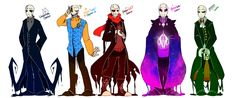 Gasters by Bunnymuse on DeviantArt << first the Sans Squad, now the Gaster Gang? Sign me up