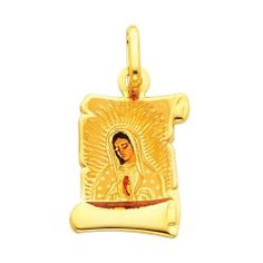 14K Yellow Gold Religious Our Lady of Guadalupe Enamel Picture Charm Pendant The World Jewelry Center. $73.00. High Polished Finish. Promptly Packaged with Free Gift Box and Gift Bag. Simply Elegant. Save 61%!