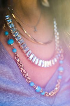 Layered Necklaces - Gold Crystal Collar Necklace | Urban Peach