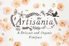 Artisania Font by Mia Charro on @creativemarket