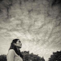 Willow. #clouds #cloud #sky #girl #blue #heaven #monochrome #nobu_tv