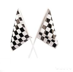 Amazon.com: Lot of 48 Plastic Checkered Mini Racing Flags Race Party Favor: Kitchen & Dining