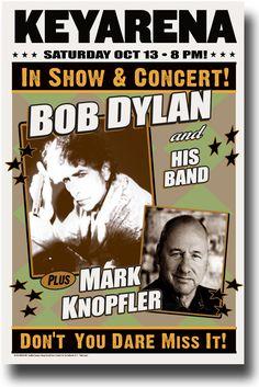 Bob Dylan Poster Poster Concert $9.84 Mark Knopfler