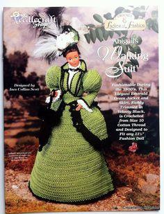 abigails walking suit ladies of fashion crochet barbie doll dress pattern the needlecraft shop