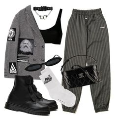 """Untitled #545"" by youraveragestyle ❤ liked on Polyvore featuring KTZ, Alyx, Dr. Martens and Chanel"
