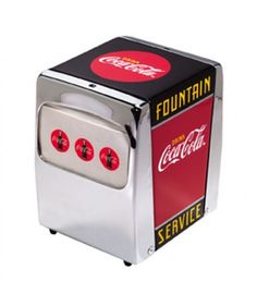 Coca-Cola Fountain Service Servetten Houder The Fifties Store - Retro Fashion & Living http://www.fiftiesstore.com