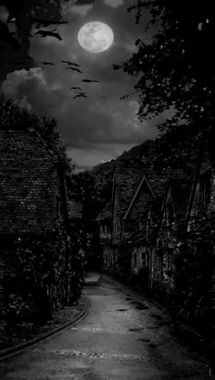 Gothic - darkestdee: Original here The Dark Village Dee's b/w Edit Hp Lovecraft, Cthulhu, Dark Words, Gothic Artwork, Spooky Places, Creepy Pictures, Gothic Horror, Dark Places, Fantasy Inspiration