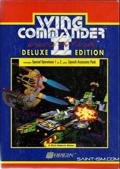 Saint-ism presents, a retro unboxing of the timeless PC game, Wing Commander II - Deluxe edition. Geek Games, Games Box, Old Games, Classic Video Games, Retro Video Games, Retro Games, Childhood Games, Age Of Empires, Retro Arcade