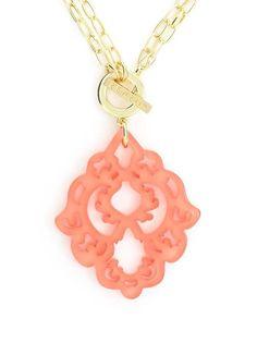 Square Art Deco Design Toggle Necklace