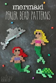 Kids Crafts Easy Beads – Easy Mermaid Perler Bead Patterns… Source by katelynlebreton Perler Bead Designs, Easy Perler Bead Patterns, Melty Bead Patterns, Hama Beads Design, Beading Patterns, Loom Patterns, Embroidery Patterns, Art Patterns, Knitting Patterns