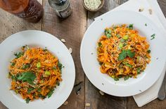 Sweet Potato Pad Thai with Sriracha Sauce  | LemonsandBasil.com