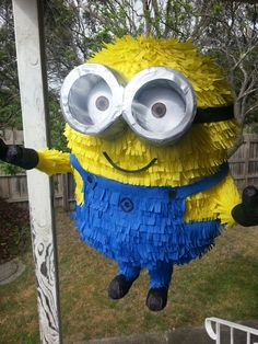 Minion piñata made for a 2 year olds birthday party.