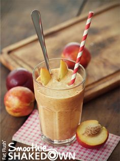 Peach Ginger Smoothie- Official Fat Flush Smoothie Shakedown Recipe
