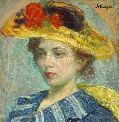 Lebasque, Henri (French, 1865-1937) - Woman with Hat with Flowers