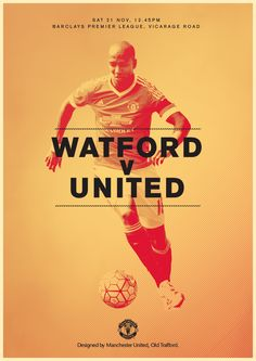 Match poster. Watford v Manchester United, 21 November 2015. Designed by @Manchester United