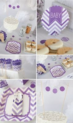 Purple Chevron Party Supplies #BigDot #HappyDot #BabyShower