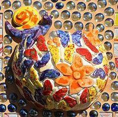 "MY LATEST PIECE: ""SPRING FLOWERS"" Wall Plaques, Mosaic Art, Kara, Spring Flowers, Original Art, Crafts, Painting, Manualidades, Painting Art"