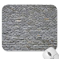 Slate Roof Tiles Background Texture Mouse Pads