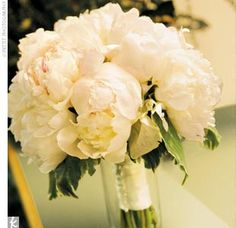 Lots of peony wedding bouqets!