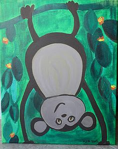 Funky monkey painting