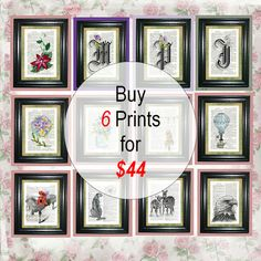 SIX PRINT SPECIAL Deal  Mix and Match Prints  by CocoPuffsArt, $44.00