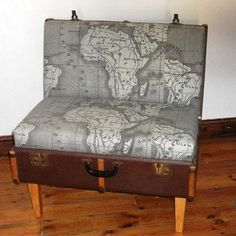 benchs and seats, oh my !....43 Incredible Ideas Why Not Throw Away Your Old Suitcases