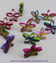 sinnvoll erleben - sinnvoller leben: Blumen aus Klopapierrollen
