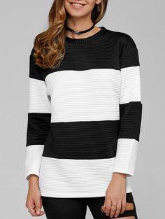 Sweatshirts | White and black Striped Sweatshirt - Gamiss