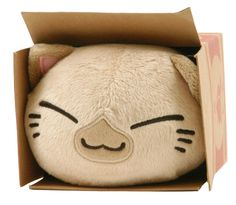 "Nemuneko Kitty Plush 4"" Tan Siamese Cat in Peaches Box"