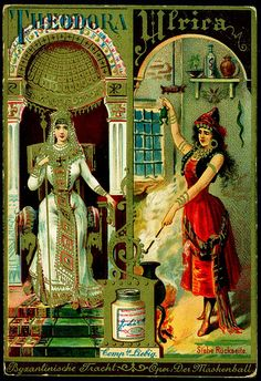 Women in Opera (No. 10) trading card issued by Liebig Extract of Beef Company. S329.