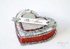 Glitter box valentine. Made these last year, so fun!