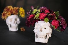 P.S.- I made this...Skull Floral Arrangement with @popsugar  #PSIMADETHIS #DIY A Floral Arrangement You'll Want to Keep All Year
