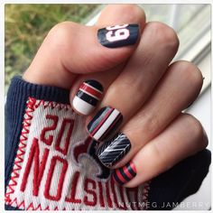 Houston Texans and JJ Watt wraps! #nutmegjam #jamberry #nailart