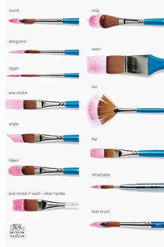 Watercolor Art Lessons, Watercolor Painting Techniques, Simple Watercolor Paintings, Best Watercolor Brushes, Acrylic Paint Brushes, Simple Canvas Paintings, Art Painting Tools, Diy Painting, Canvas Painting Tutorials