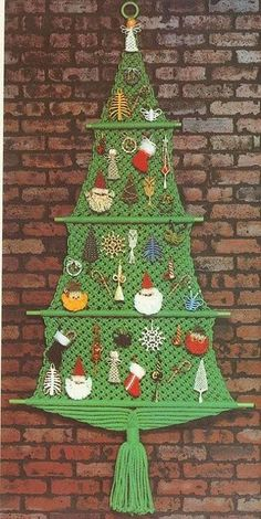 Miniature Christmas trees created with macrame knots are beautiful, original, and modern Christmas decorations Macrame Art, Macrame Design, Macrame Projects, Homemade Christmas, Christmas Crafts, Christmas Decorations, Christmas Ornaments, Christmas Projects, Holiday Crafts