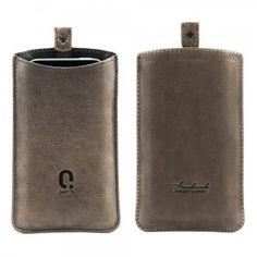 Qiotti Q.Smooth Premium Lederetui für bei www. Leather Accessories, Iphone 4s, Flask, Smooth, Slipcovers, Accessories, Iphone 4