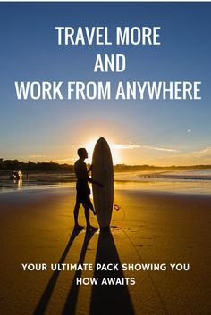 How to Travel More and Work from Anywhere. 13 experts reveal their tips and strategies for working abroad, earning money with AirBnb, hacking free flights, becoming an entrepreneur, blogging, saving money on travel and more! Over $2,000 worth of products for $197. Two days left to grab this deal Plus, we are offering an extra $177 worth of bonuses + giving back 10% of our commission to Pencil of Promises.