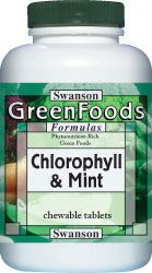 Chlorophyll & Mint chewable supplement - Swanson Health Products