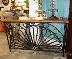 Black Dog Salvage - Architectural Antiques & Custom Designs: Antique Wrought Iron Console Table