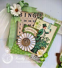 Vintage Style St. Patrick's Day Banner by KathybyDesign on Etsy