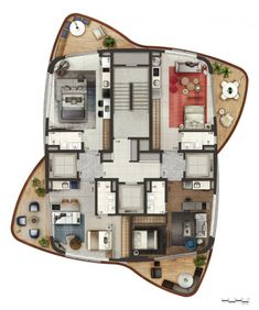 Pininfarina provides integrated solutions in different fields, from automotive to architecture, from smart products to retail. Dream House Plans, Modern House Plans, Small House Plans, House Floor Plans, Residential Building Plan, Building Plans, A As Architecture, Architectural Floor Plans, Plan Sketch