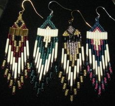 Porcupine Quill Earrings by Yahhazie (Shoshone-Bannock)