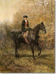 Heywood Hardy. Lady riding sidesaddle
