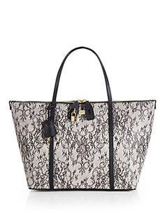 [make a bad day better] <3 Dolce & Gabbana Miss Sicily Lace Print Tote