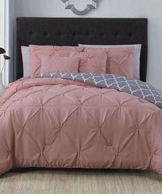 Love this Blush Madrid Five-Piece Comforter Set on #zulily! #zulilyfinds